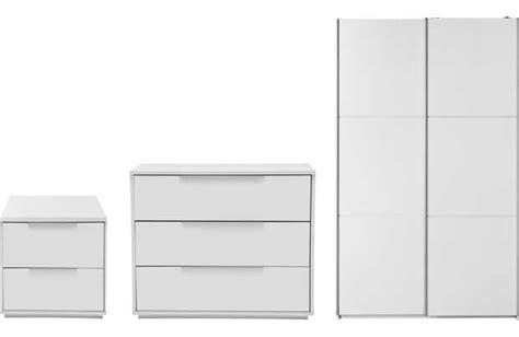 Hygena Bergen 3 Piece Wardrobe Package White Bedroom Hygena Bathroom Furniture