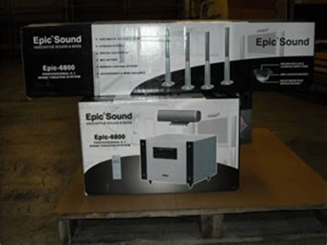 epic sound home theater systems government auctions