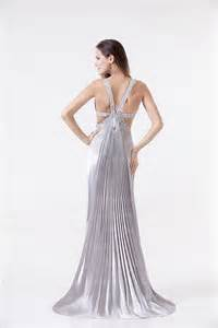 Summer Garden Wedding Dresses - 2014 new arrival silver pageant satin beaded floor length split evening gowns dresses bo0183