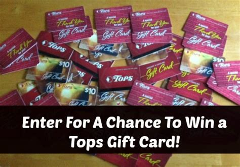 Tops Gift Card Deals - wny deals and to dos winner 10 tops markets favorite deal comment giveaway
