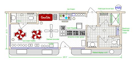 ice cream shop floor plan make sure your ice cream shop includes an electronic