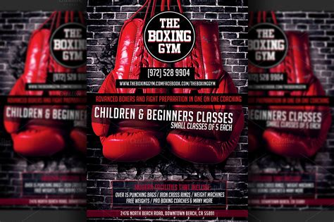 free boxing fight card template boxing flyer template flyer templates on creative market