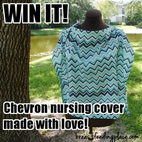 Nursing Giveaway - celebrating 600 likes on facebook chevron nursing cover giveaway breastfeeding place