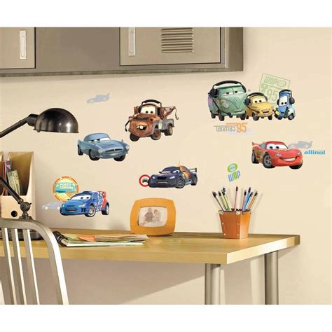 how to stick wall stickers roommates cars 2 peel and stick wall decals rmk1583scs
