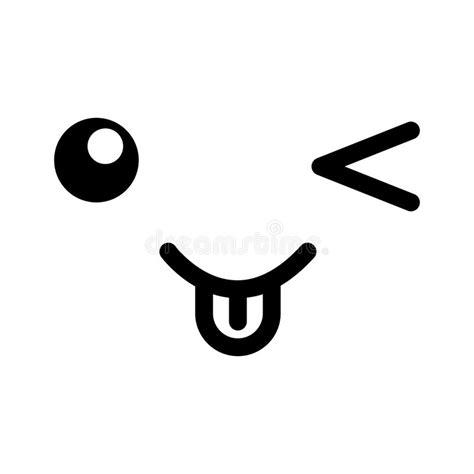 imagenes kawaii en blanco y negro cara blanco y negro del emoticon del kawaii ilustraci 243 n