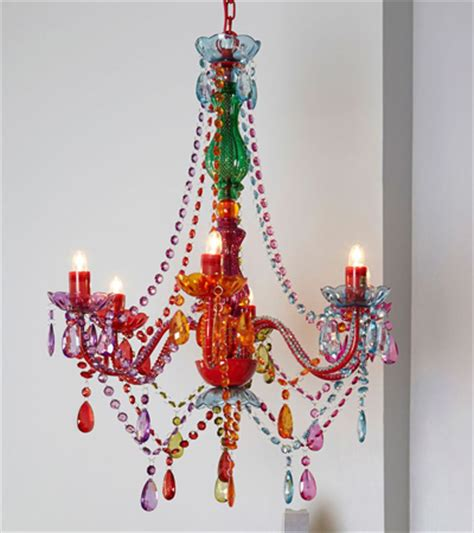 Rainbow Chandelier Rainbow Light Show Chandelier Decor By Color
