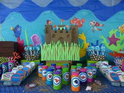 table hanford ca finding nemo 1st birthday table by partyland