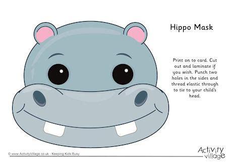 printable hippo mask hippo mask