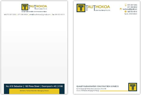construction letterhead templates letterhead and complimentary slip designers corporate