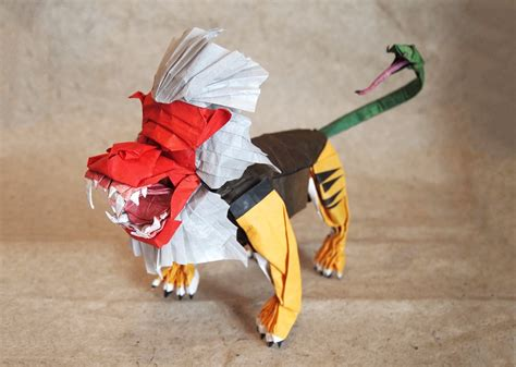 Amazing Origami Creations - amazing mythological origami creations you to see to