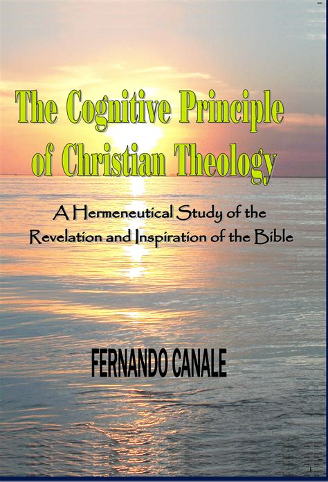 when appears an inspirational experience through revelation books the cognitive principle of christian theology a