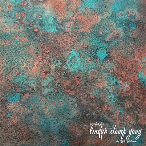 How To Paint Faux Copper Patina - faux verdigris or patina background lindy s stamp gang