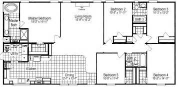 5 Bedroom Modular Home Floor Plans Floor Plans For Site Built Mobile And Modular Homes San