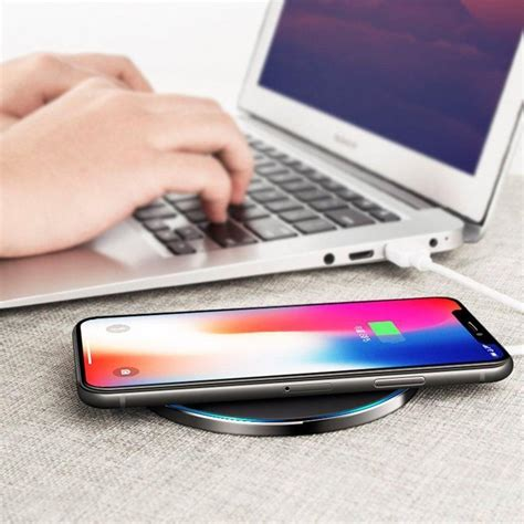 tempered glass qi fast wireless charger  iphone xr