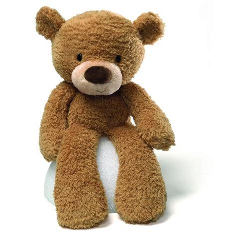 gund fuzzy beige teddy bear 14 quot 36cm stuffed animal soft
