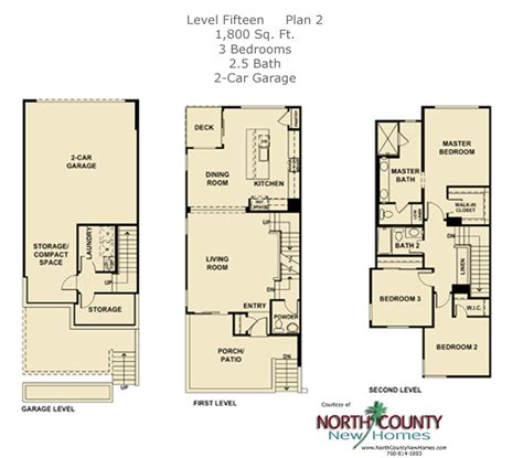 2 level floor plans level fifteen floor plan 2 north county new homes