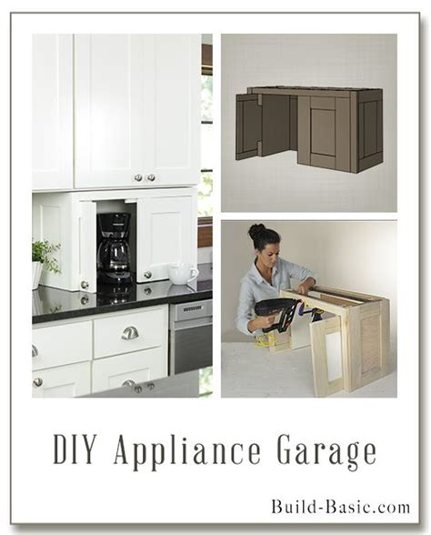 Build this DIY Appliance Garage   Building Plans and