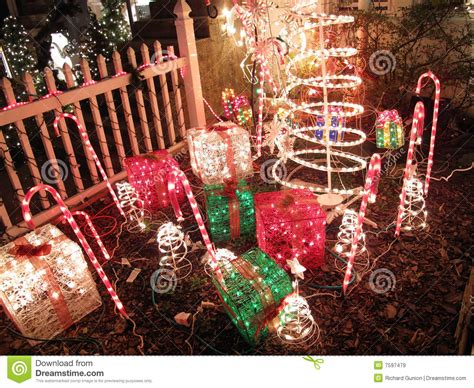 electric christmas presents royalty free stock images