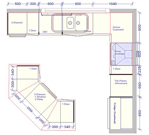 kitchen island plan kitchen floor plans with dimensions images