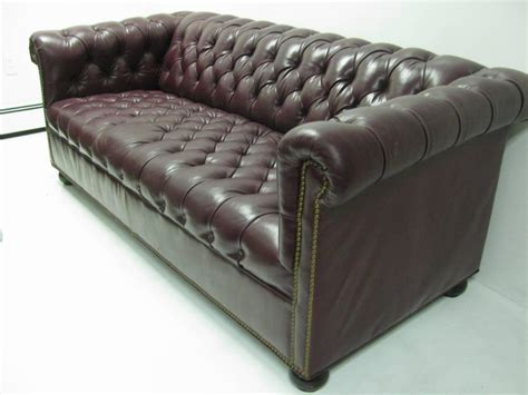 burgundy chesterfield sofa chesterfield leather two seat sofa in burgundy red for
