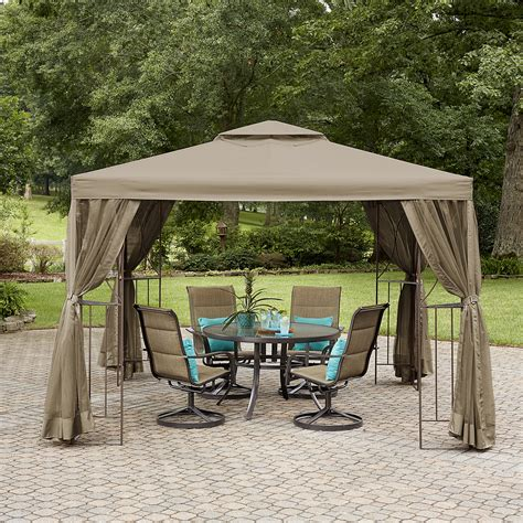 garden oasis gazebo garden oasis lakeville 10 x 10 canopy gazebo with insect
