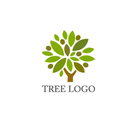 tree logo vector free vector nature tree logo inspirations vector
