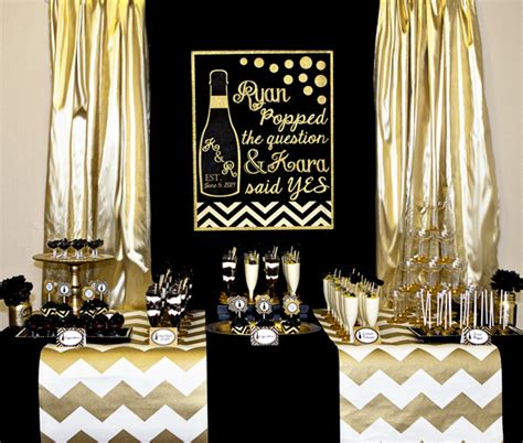 party themes black and gold gold and black party chagne bridal shower lillian