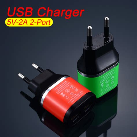 Promo Travel Charger The Highest Quality high quality eu dual usb 5v 2a wall charger 2 ports travel adapter charger for iphone for