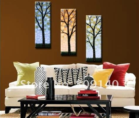 home decoration painting painting canvas big money tree modern fortune decoration high quality handmade home office