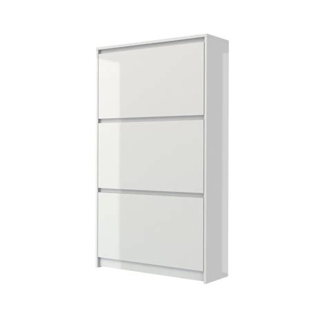 3 drawer shoe cabinet in white high gloss 71008uuuu