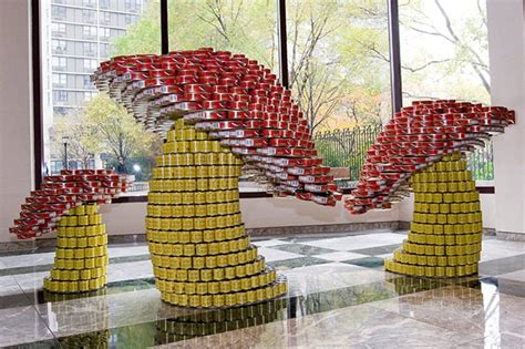 can sculpture giant sculptures made from food cans canstruction 174 event