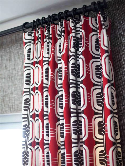 red and black fabric for curtains bachelor pad ideas on a budget hgtv