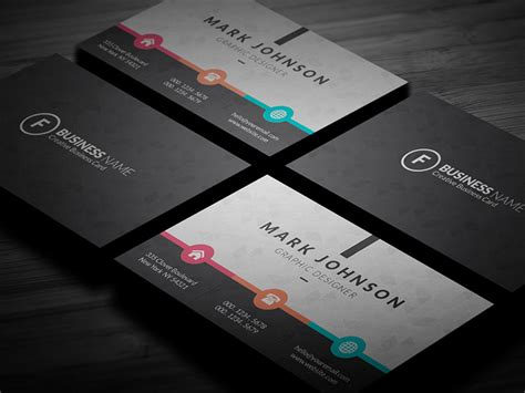 colorful metro style business card template 187 free