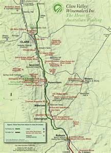 valley map clare valley australia map map