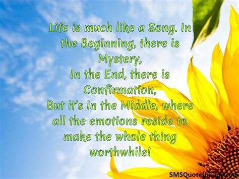 what is it like to live on a boat life is much like a song life sms quotes image