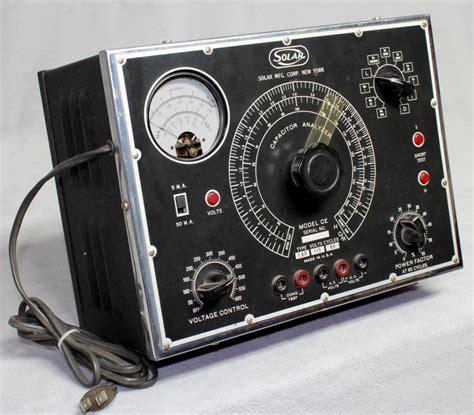capacitor analyzer radiolaguy solar ce capacitor analyzer