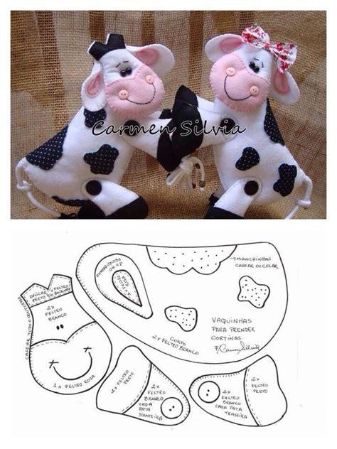 vacas en firltro vaquitas fieltro moldes patron pinterest vaca