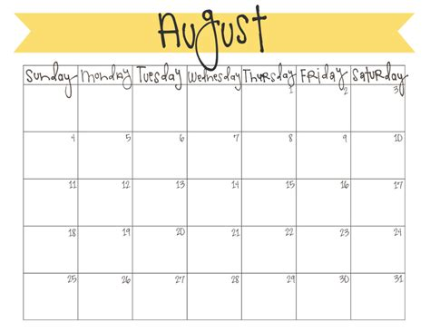 august 2013 calendar printable august 2013 calendar free printable live craft eat