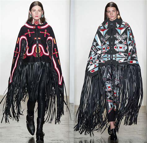 oversize fit native american tribal pattern jacket coat ktz 2015 2016 fall autumn winter womens runway looks