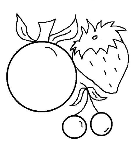 gambar mewarnai buah buahan segar  anak anak