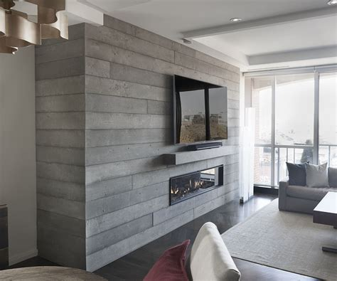 Board Formed Concrete Fireplace, Toronto   Anthony
