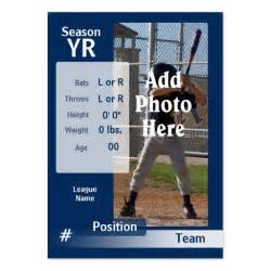 baseball card size template custom baseball trading card in blue large business cards