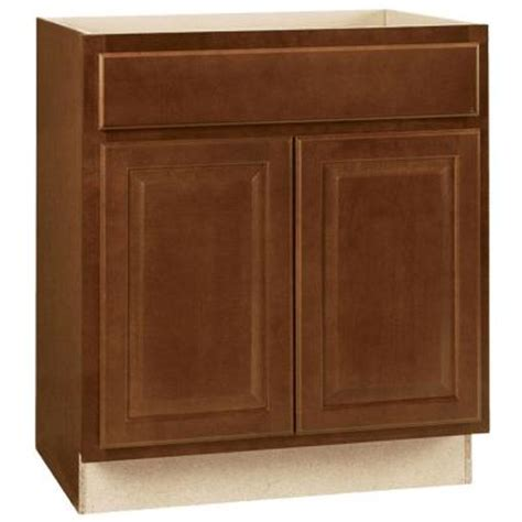 home depot cognac cabinets hton bay 30x34 5x24 in hton base cabinet with ball