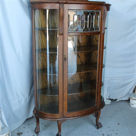 beveled glass china cabinet bargain john s antiques 187 blog archive oak curved glass