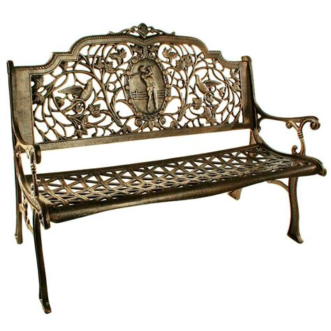 home depot patio bench oakland living golfer patio bench 6004 ab the home depot