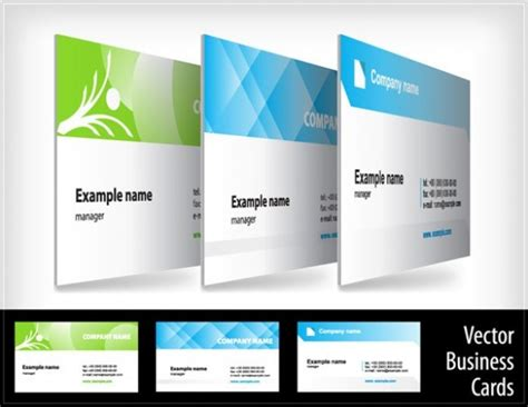 attractive business card templates 3 attractive business cards vector templates
