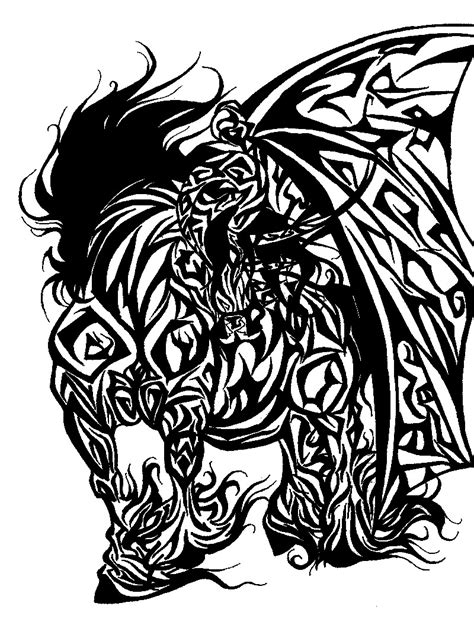 tribal demon tattoo tribal by marikinuyasha fanart central