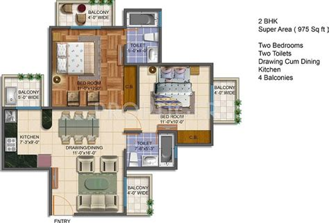 975 Sq Ft 2 Bhk 2t Apartment For Sale In Royal Estate 975 Sq Ft 2 Bhk 2t Apartment For Sale In Charms India