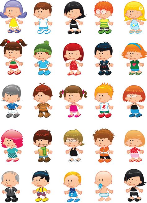 free childrens clipart children figures vector vector graphics