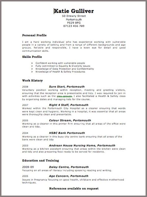 layout of a good curriculum vitae curriculum vitae format for uk curriculum vitae exle